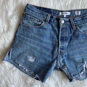 Re/Done x Levi's🖤cutoff Jean shorts